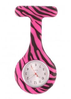 Siliconen Horloge Verpleegkundige Zebra Roze