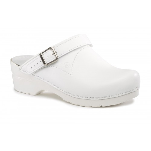 Toffeln Flexi Clog Wit