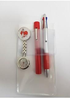 Zakbeschermer A6 Wit + Accessoires Rood