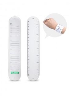 Herbruikbare notitie klap-armband