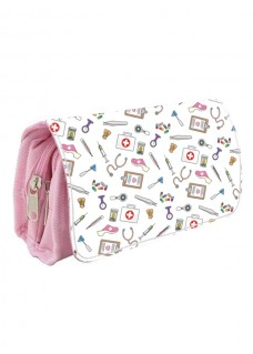 Instrumenten Tasje Medische Symbolen Roze