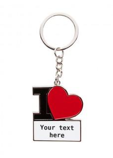 Sleutelhanger I Love Nursing met Naam of Tekst Opdruk