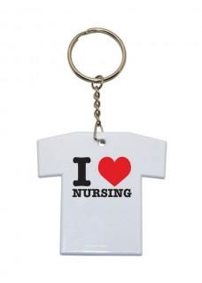 Sleutelhanger T-Shirt I Love Nursing