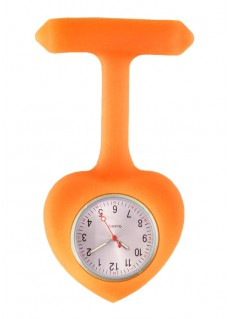 Siliconen Hartje Verpleegstershorloge Oranje