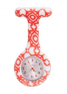 Siliconen Horloge Verpleegkundige Aztec Rood