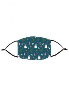Stoffen Mondmasker Kerst Symbolen