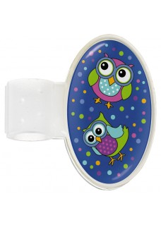 Stethoscoop Naam Badge Owl Blue Party