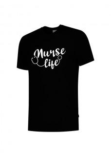 T-Shirt Nurse Life Zwart