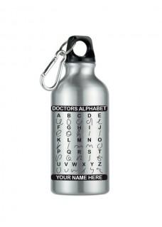 Drinkfles Doctors Alphabet Zilver