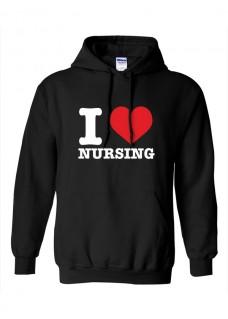 Gildan Hoodie I Love Nursing