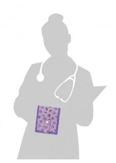 KEEN'S – Verpleegkunde Organizer Symbolen Paars+ GRATIS ACCESSOIRES