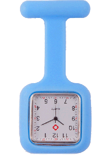 Siliconen Vierkant VerpleegstersHorloge Blauw