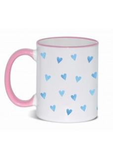 Mok Blauwe Hartjes Roze