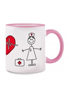 Mok Stick Nurse Roze