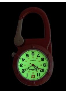 Knip Horloge NOC472 Lumineus Rood