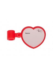 Stethoscoop Naam Badge Hartje
