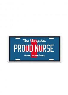 Kentekenplaat Proud Nurse