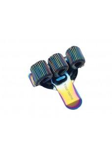 Pennenhouder Borstzak 3(triple) Metal Rainbow