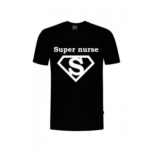 T-Shirt Super Nurse 1 Zwart