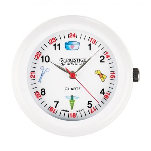 Stethoscoop Horloge Wit