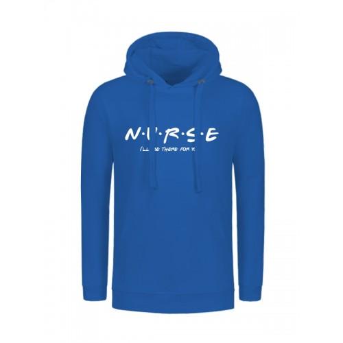 Hoodie Nurse For You Blauw