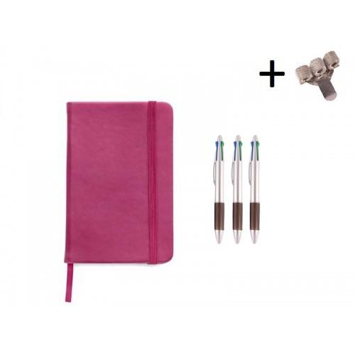 Set Notitieboek A5 + Pennen Roze