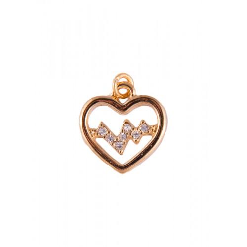 Hanger Heartbeat Goud klein
