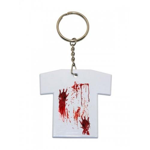 Sleutelhanger T-Shirt Bloedvlekken