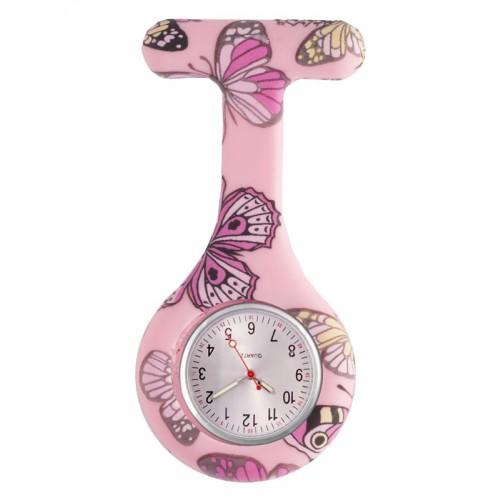 Siliconen Horloge Verpleegkundige Vlinder Roze