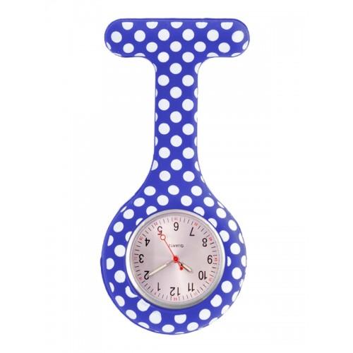 Siliconen Horloge Verpleegkundige Polka Dots Blauw