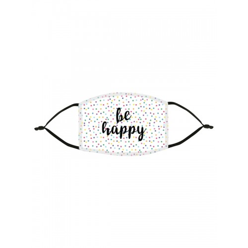 Stoffen Mondmasker Be Happy