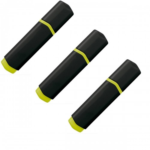 Highlighter/Markeerstift 3 Pak Zwart Geel