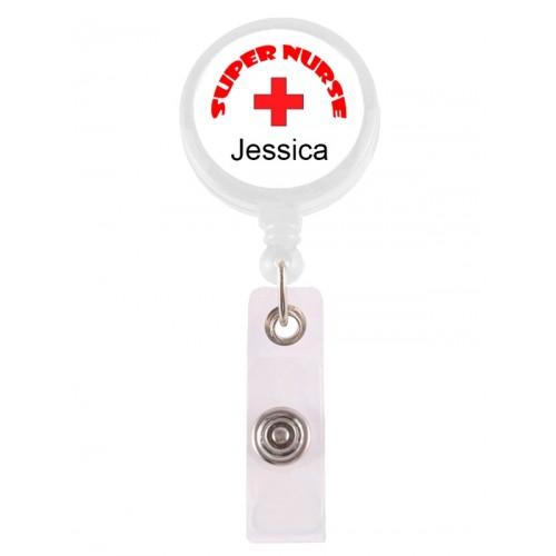 Badge / ID Jojo Super Nurse 1 met Naam Opdruk