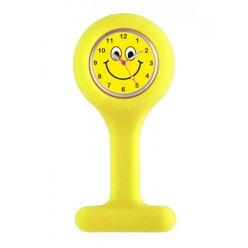 Siliconen Verpleegstershorloge Geel Happy Face