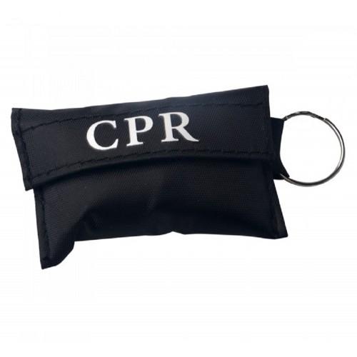 CPR Masker Sleutelhanger Zwart
